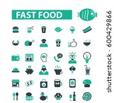 fast food icons  | Shutterstock .eps vector #600429866