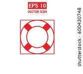 lifebuoy vector icon. | Shutterstock .eps vector #600430748