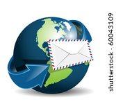 globe and envelope   Shutterstock .eps vector #60043109