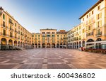 spain majorca  city center... | Shutterstock . vector #600436802