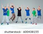 the kids dance school  ballet ... | Shutterstock . vector #600438155