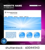 web site vector design template | Shutterstock .eps vector #60044543