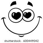 black and white smiling love...   Shutterstock .eps vector #600449042
