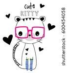 cute animal cartoon vector | Shutterstock .eps vector #600454058