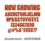 color golden alphabet with show ...   Shutterstock .eps vector #600454868