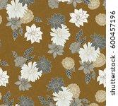 seamless hand drawn pattern of...   Shutterstock . vector #600457196
