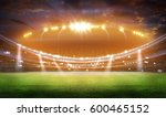 stadium in lights and flashes...   Shutterstock . vector #600465152