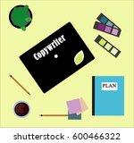 copywriter text  freelance...   Shutterstock . vector #600466322