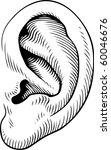 human ear | Shutterstock .eps vector #60046676