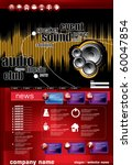 music vector website template... | Shutterstock .eps vector #60047854