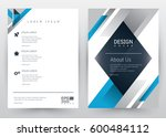 cover design vector template ... | Shutterstock .eps vector #600484112