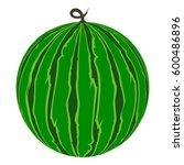 watermelon ripe juicy vector... | Shutterstock .eps vector #600486896