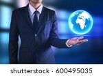 his business growth and... | Shutterstock . vector #600495035