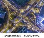 road traffic in city at... | Shutterstock . vector #600495992