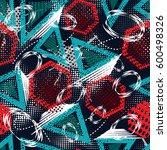 abstract grunge pattern... | Shutterstock .eps vector #600498326