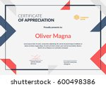 Certificate Of Appreciation...