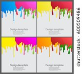 set of paint colorful dripping... | Shutterstock .eps vector #600509486