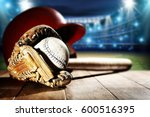 baseball and tools  | Shutterstock . vector #600516395