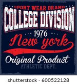 athletic dept. new york ... | Shutterstock . vector #600522128