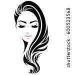 illustration of women long hair ... | Shutterstock .eps vector #600523568