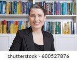 friendly smiling mature woman... | Shutterstock . vector #600527876