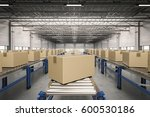 3d rendering carton boxes on... | Shutterstock . vector #600530186