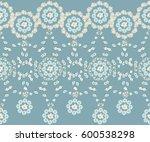 seamless mandala pattern in... | Shutterstock .eps vector #600538298