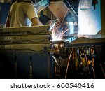 the working in welding skill... | Shutterstock . vector #600540416