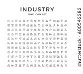 set line icons of industry | Shutterstock .eps vector #600542282