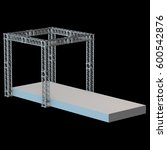 steel truss girder rooftop... | Shutterstock . vector #600542876