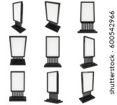 lcd screen stand set. blank... | Shutterstock . vector #600542966
