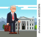 old business man professor with ... | Shutterstock .eps vector #600552896