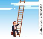smiling businessman in suit... | Shutterstock .eps vector #600554336