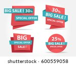 pink and blue shopping sale... | Shutterstock .eps vector #600559058
