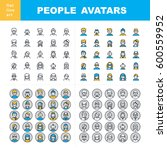 men and women characters staff... | Shutterstock .eps vector #600559952