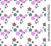 seamless floral pattern  ideal... | Shutterstock .eps vector #600561902