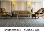 living room interior with sofa | Shutterstock . vector #600568136
