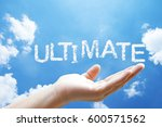 ultimate cloud word floating on ...   Shutterstock . vector #600571562