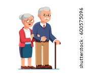 Old Senior Man And Woman In...