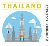 thailand illustration  vector ... | Shutterstock .eps vector #600576878