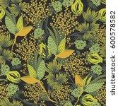 floral seamless pattern. hand... | Shutterstock .eps vector #600578582