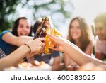 group of young people having... | Shutterstock . vector #600583025