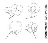 vector set of hand draw ink... | Shutterstock .eps vector #600590606