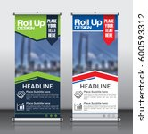 roll up banner design template...   Shutterstock .eps vector #600593312