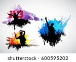 dancing people. party background | Shutterstock .eps vector #600595202