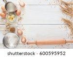 baking background. cooking... | Shutterstock . vector #600595952