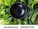 Variety Of Raw Green Vegetable...