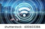 businesswoman on blurred... | Shutterstock . vector #600603386