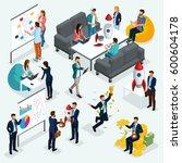 trendy isometric people  3d... | Shutterstock .eps vector #600604178
