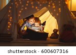 reading and family games in... | Shutterstock . vector #600607316